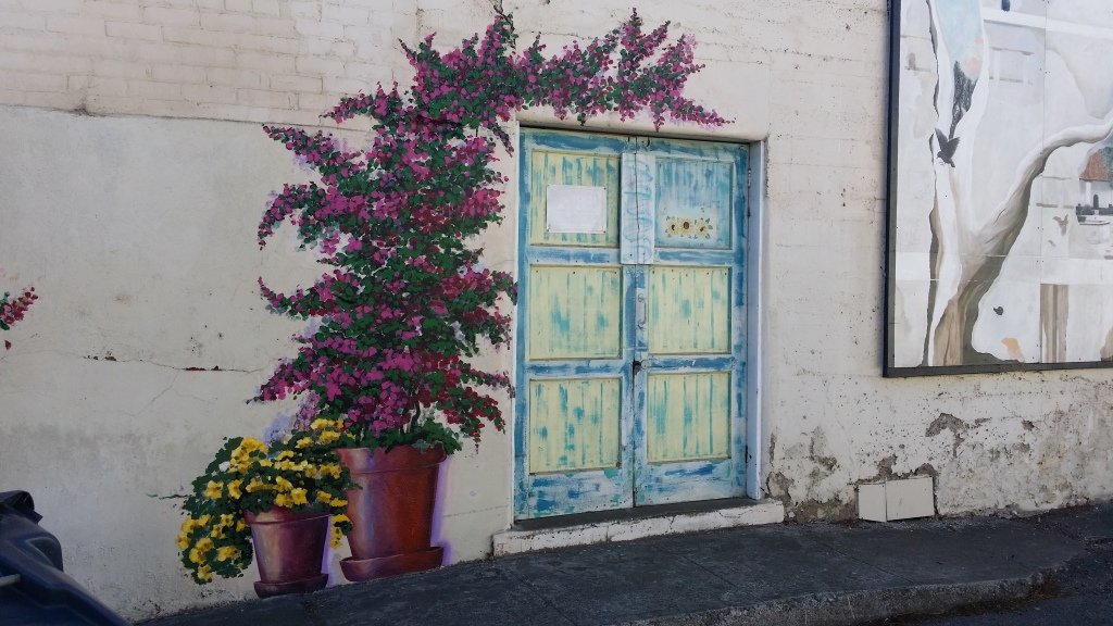 Even the doorways in Art Alley are decorated!