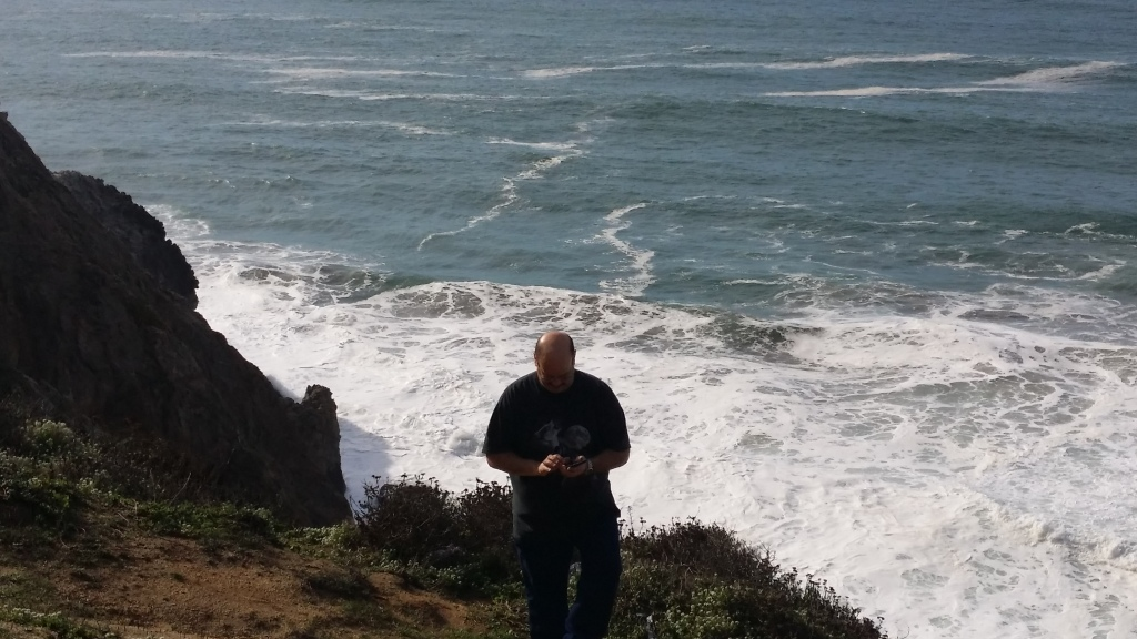 Hubby on the Pacific Coast Highway