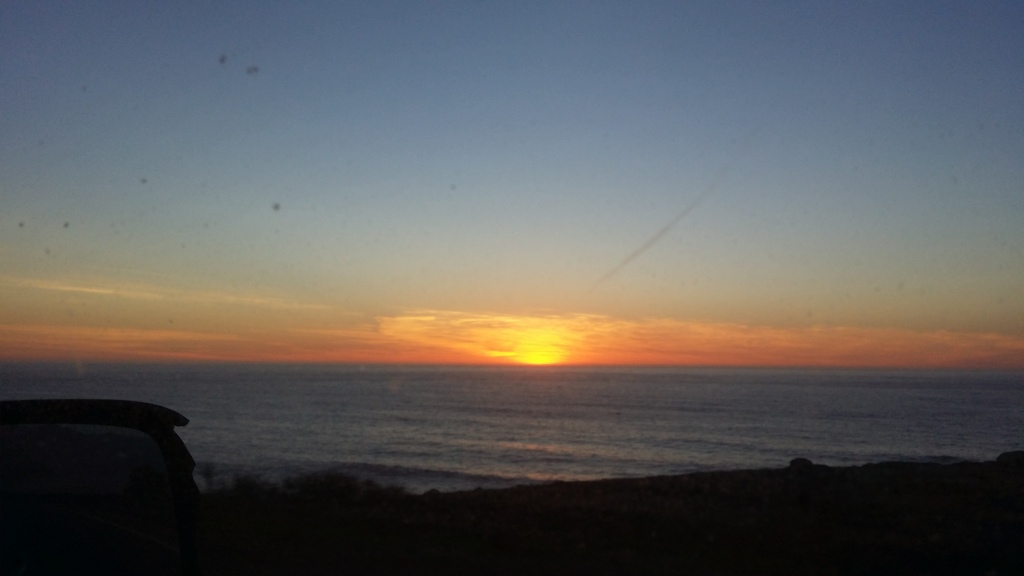Sundown on Pacific Coast Highway